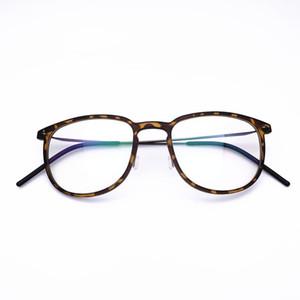 BeLight Optical Brand Design Acetato redonda com Mens Titanium Óculos Frames óculos designer Prescrição Eyewear 6549