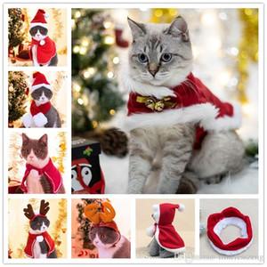 متنوعة القط الحيوانات زي عيد الميلاد الديكور حزب هدية الكلاب القطط اللوازم قبعة عباءة وشاح عقال الملابس لجرو سنة جديدة سعيدة
