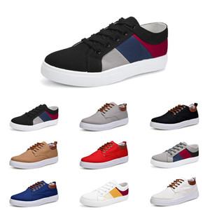 Top 2020 zapatos de los hombres de No-Marca lienzo spotrs Casual zapatillas Blanco Negro Rojo Gris Caqui manera del estilo azul Tamaño de los zapatos 39-46