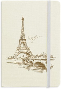 The Eiffel Tower Paris France Notebook Fabric Hard Cover Classic Journal Diary A5