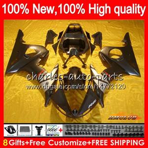 Body+8GiftsForYAMAHAblack frame YZF600YZFR6600CC20032004200559NO.59YZF-600YZF-R6YZF600R603-05YZFR6030405FairingsKit