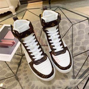 Louis Vuitton Homens e mulheres novos hococal BOOMBOX sapatilha de designer BOOT luxo 1A5MWJ calçados esportivos das mulheres dos homens sapatos casuais de alta qualidade
