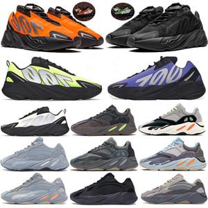 700 Arancione corridore Phosphor Bone Kanye Mens scarpe da corsa delle donne di sport Blue Carbon V2 inerzia statica Geode utilità nero stilista scarpe da ginnastica