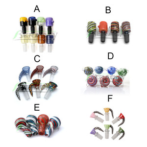 Beracky 6 Styles US Color 14mm 18mm Male Glass Bowl Wig Wag Bowls Piece Smoking Accessories For Glass Water Bongs Dab Rigs Pipes