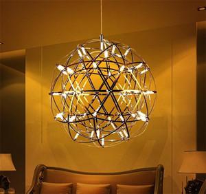candelabro nórdico decoración moderna personalidad creativa lámpara del dormitorio bola de hilo de pescar rótula de comedor sala de estar lámpara de araña chispa