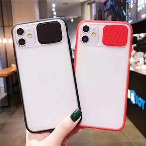 Новый творческий push-pull объектив камеры чехол для телефона iphone 11 Pro Max XR XS 7 8 Plus матовая текстура прозрачная анти-падение задняя крышка