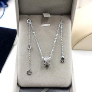 2019 nouvelle jolie petite taille diamant rose collier plaqué pleine pendentif en or le meilleur cadeau 18K pour votre amant Saint Valentin