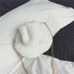 New Kid New Plush Chain Single Shoulder Bag Lovely Cartoon Rabbit Girls Messenger Bag Children's Bag 2019 Autumn And Winter