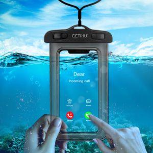Водонепроницаемый чехол для телефона для iPhone X XS Max Xr 8 7 Samsung S9 Прозрачный ПВХ Герметичный подводный сотовый смартфон Сухой чехол Чехол