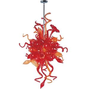 Yeni Tasarım Çiçek Tasarım Stil Avize Murano Cam Avize Lamba Luxury Hotel için Murano Cam Kristal Avize