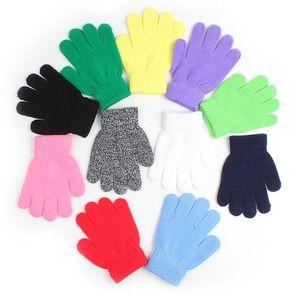 Mode Kinderkinderzauberei Glove Handschuh-Mädchen-Junge-Kind dehnbaren Strick Winter warme Handschuhe Pick Farbe