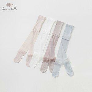 Db10553 Dave Bella estate neonate vestito calze ragazze stampa calze belle calze J190523