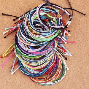 Tópico Handmade Wax Woven Pulseiras Multilayer Amizade pulseira trançada de tração de corda Bohemian Pulseiras para Mulheres Summer Beach Jewelry