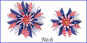 """Um par BÊNÇÃO menina Popular de 3,5"""" + 4.5"""" Fada do arco grampo de cabelo Bandeira Nacional Dia Flor do unicórnio do Natal Halloween"""