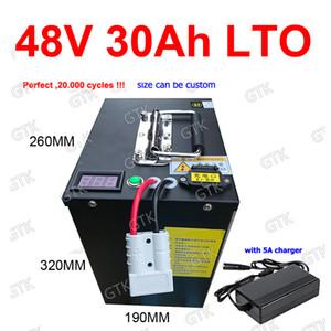 batteria titanato GTK LTO 48V 30AH Lithium BMS 20S per 3500W solare accumulo di energia del motorino della bici della bicicletta inverter carica RV + 5A
