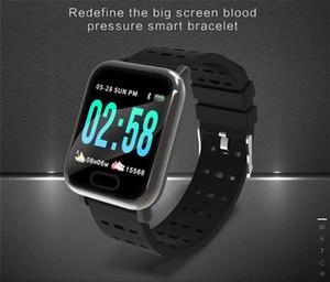Nueva llegada A6 Fitbit Sport Smart Band Presión arterial Pulsera inteligente Monitor de ritmo cardíaco Rastreador de calorías IP67 Reloj inteligente a prueba de agua