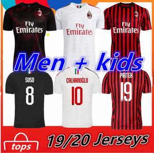 AC Milan homens crianças jérseis 2019 Piatek 2020 camisa de futebol kit Paquetá THEO SUSO Rebic Romagnol meninos adultos jovens camisa de futebol