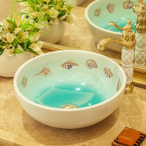 Chinese Style Handmade Countertop Ceramic Bathroom Basin Bathroom Sink ceramic washbasin china sink basin wash basin