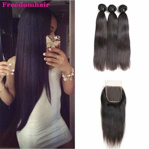 Peruvian Deep Wave Loose Straight Body Wave Virgin Hair 3 Bundles With 4x4 Lace Closure 100% Brazilian Peruvian Mongolian Indian Hair wefts