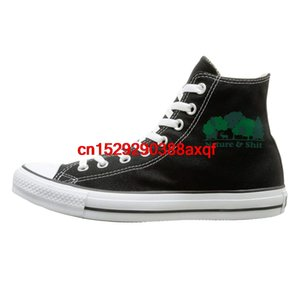 Canvas Shoes Nature And Shit Classics High-Top Lace Ups Sneaker For Men Women