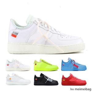 2020 NEW1 KAPALI İyi Kalite X Avrupa Kuvvetler 2.0 Chicago Virgil Pudra Beyaz Yeşil Siyah Koşu Ayakkabı UNC Basketbol Eğitim Daire Ayakkabı