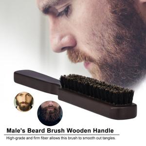 Männer Bart-Bürsten-Holz-Schnurrbart Kamm männlich Bart Rasierpinsel Für Barber Salon Reinigung