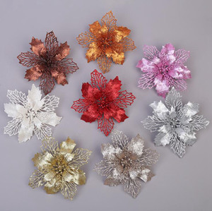 Christmas Flower Mold DIY Carbon Steel Cutting Die Glitter Christmas Flower Tree Hanging Flowers Artificial Flower Xmas Decor OOA7416-4