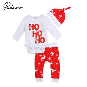 Kleinkind-Kind-Baby-Jungen-Mädchen-6M-24M Body Brief drucken toppt Hosen Weihnachten Deer Outfits Set