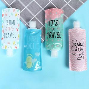 Bouteilles de voyage en PVC Sac cosmétique liquide désinfectant pour les mains Stockage / Shampooing / Maquillage Sacs Sacs stockage de liquides hydratantes de