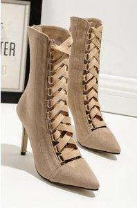 Sıcak Satış-moda kadın ayakkabı Çapraz-kayış Noktası toe İnce topuklu Yüksek Topuklu Kadınlar Için Stilettos Ayakkabı Pompalar