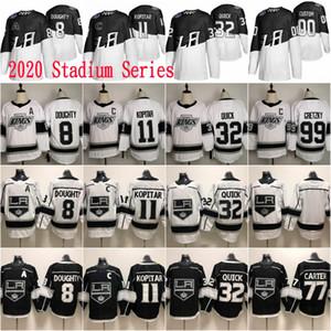 2020 Стадион Серии Лос Анджелес Кингс 8 Дрю Даути 11 АНЗ Копитар 32 Джонатан Квик 99 Уэйн Гретцки Мужчины Женщины Дети Молодежные Хоккейные Майки