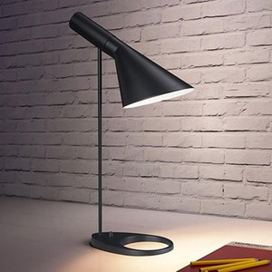 북유럽 현대 간단한 철 테이블 램프 침실 침대 옆 스터디 룸 실내 조명 블랙 화이트 전등 갓 클래식 데스크 램프