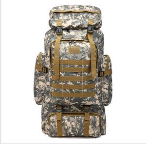 Yeni erkek çantası çok fonksiyonlu açık yürüyüş sırt çantası büyük kapasiteli 80L kamuflaj gündelik spor çantası açık hak talebinde bulunma sırt çantası seyahat