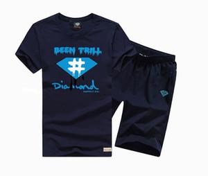 Costume de hip-hop hommes d'été Top Tees Glowing ensemble T-shirt en coton à manches courtes O-cou Casual Print s-5xl