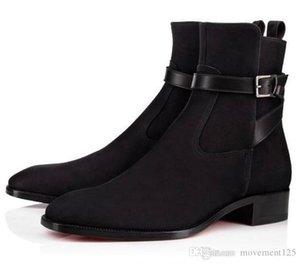2019 botas de alta qualidade Red inferior Homens Causal nuas Calçados alta homens top marca de moda Women Flat botas Cavaleiro Confortável Moda Luxo