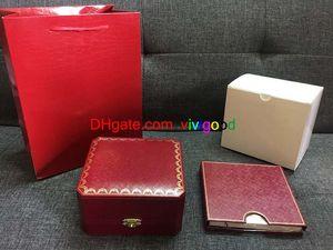 Brand Luxury Herren Zubehör für Uhrenbox Original Inneninnen Äußere Watches Boxen Männer Armbanduhr Box