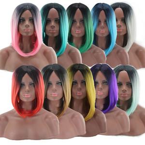 Европейский и американский парик женский окрашенный градиент волос Набор Bobo Head Cos анимация цена градиент короткие вьющиеся волосы производители