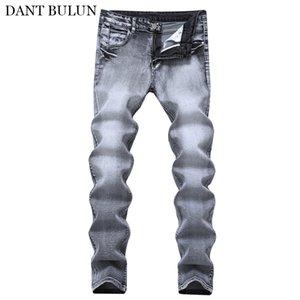 Classic Jeans Men Slim Fit Casual Stretch Denim Pants Vintage Gray Mens Clothing Trousers Jeans Hombre Homme Male Clothes 2020