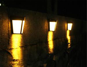 estilo Lamp Europeia cerca IP44 que encerra Parede de bambu dinheiro quente A energia solar lâmpada de parede 6LED Ar Livre Courtyard lâmpada