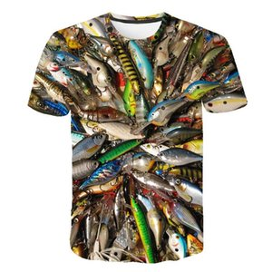 Fish 3d t Shirt Uomo Hip HopTshirt Fisherman Tropical T-shirt divertente T-shirt Summer Fishinger Animal Mens Abbigliamento 2019 Nuovo