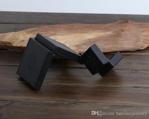Heißen Verkauf Qualitäts Schmuck Paketkästen schwarz Kunstleder PU-Material Halskette Armband Ring-Box Geschenk-Boxen mit Samtbeutel