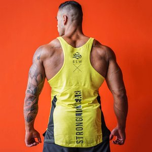 New Mens Bodybuilding Tank Tops Summer Casual Fashion Sleeveless Shirt Gyms Fitness Workout Singlet Sling Vest Crossfit Clothing MX200518