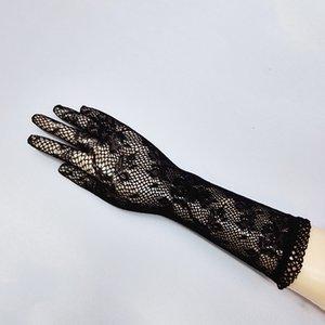 1 Paar Verkauf 2016 neue Ankunfts-Partei-sexy Dame Lace Handschuhe Handschuhe Fäustlinge Hüte, Schals Handschuhe Accessoires BlackWhiteRedOrangedark rosa 6