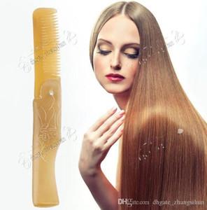 Beautifuil Donne corno di bue denti fini Tipi piegante della tasca pettine tutti i capelli Barba Baffi