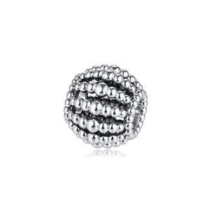 Beaded Openwork Charm Sterling-Silver-jewelry Beads Fits Pandora Bracelets DIY Woman Bracelets Beads Wholesale Beads