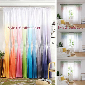 2 X Textiles para el hogar tul gasa Puerta cortina de la ventana Panel de Drape Sheer cenefas Moderno Poliéster