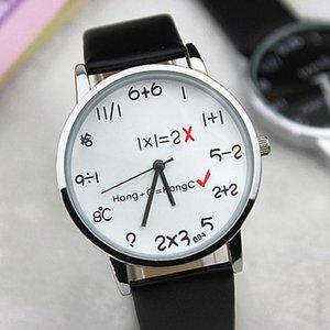 Creative Math Genève Cartoon Montres enfants Montres bracelet en cuir Bracelet Enfants Quartz Montres Cartoon Watch fille Boy horloge drrML