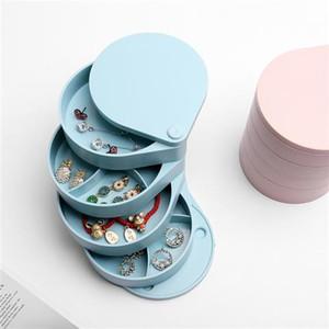 20200305 Rotary jewelry storage box net red multi-layer box