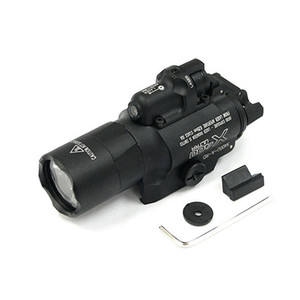 SF X400U LED 화이트 라이트 X400 울트라 권총 소총 손전등 레드 레이저를 만들기 전술 CNC
