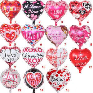 18 Inch inflatable Valentine's Day party ballons decorations bubble Aluminum film balloon I Love You Heart balloons toys supplies B11B11